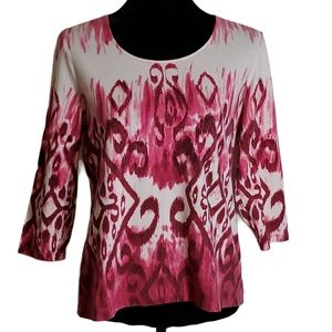 Chico's Pink Tie Dyed Top